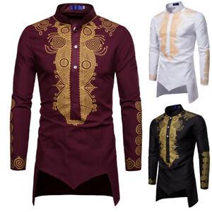 mens-3-colors-long-sleeve-shirt-Personality-tops-coat-slip-on-shirt-floral-print