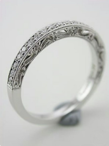Wedding Engagement Band In Cubic Zirconium /& 925 Sterling Silver For Her