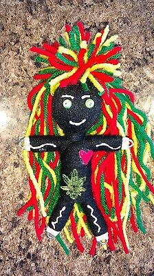 Authentic Rastafari Voodoo Doll real 7 pins guide new orleans Karma string doll