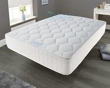 White Memory Foam Spring Mattress - 3ft Single 4ft6 Double 5ft King 6ft Super K