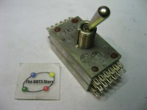 Toggle-Switch-24PDT-24-Pole-Electronic-Controls-802-24C-NOS-Qty-1