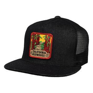 d6c94b6e19599 California Redwoods Trucker Hat by LET S BE IRIE - Black Denim