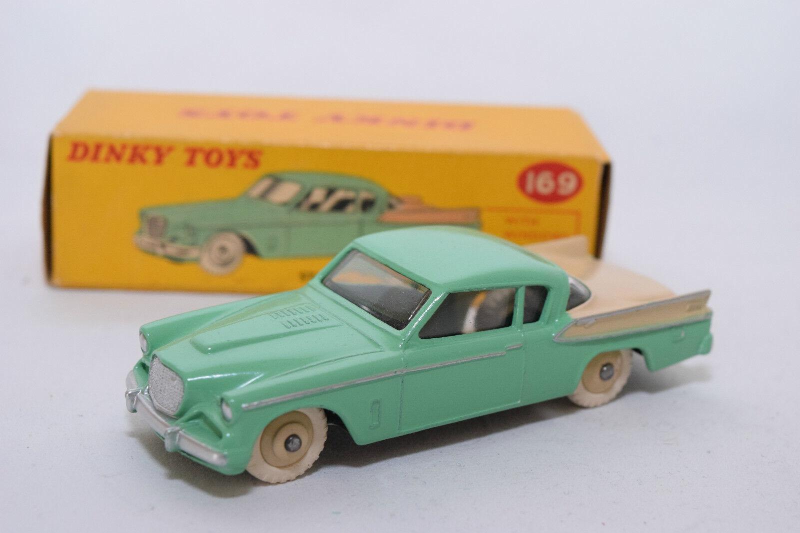 P Dinky Toys  169 Studebaker oren Hawk Turquoise Cream Mint Boxed RARE RARE  vente en ligne