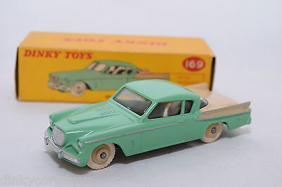 P DINKY TOYS 169 STUDEBAKER GOLDEN HAWK TURQUOISE CREAM MINT BOXED RARE SELTEN