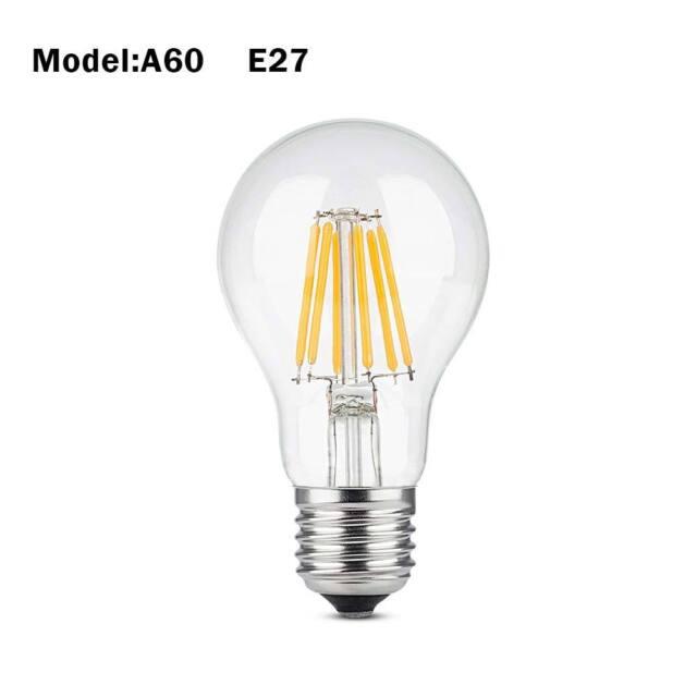 2021 Vintage Retro Edison E27 2-8W Screw LED Filament Light Bulb ST64 Globe Lamp