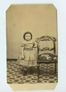 Vintage-CDV-Little-girl-by-wood-carved-chair-by-Miller-Charlestown-MA-N68