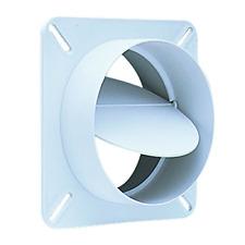 Deflecto Plastic Dryer Vent Draft Blocker 4 Diameter White Bd04