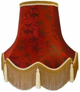 Red Paisley Table Floor Standard Lamp, Lamp Shades Old Style