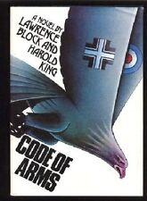 Lawrence Block, Harold King~CODE OF ARMS~1ST/DJ~NICE COPY