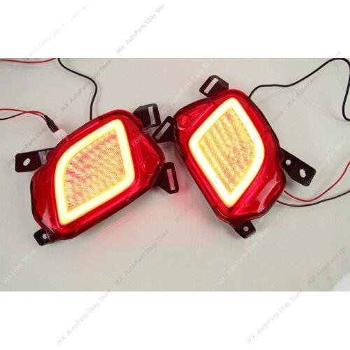 LED Rear Bumper Lights Fog Lamps Reflector Pair For Toyota Highlander 2015-2019