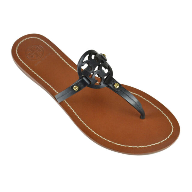 2368c8ef377d Tory Burch Mini Miller Thong Sandals Black Leather Sz 9 for sale ...