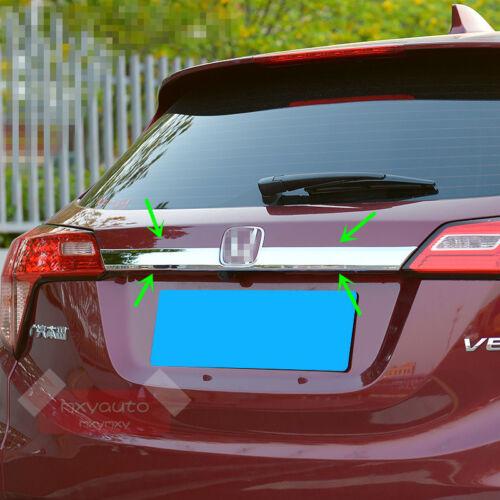 New Rear Door Trunk Lid ABS Chrome Trim For Honda HR-V 2015 2016 2017