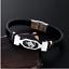 Bracelet Homme Cuir Signe du Zodiaque Astrologique Acier Cadeau Bélier Taureau