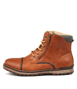 New-Uncut-Marlboro-Tan-Mens-Shoes-Casual-Boots-Ankle
