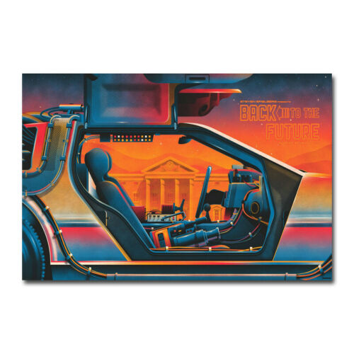 Back To The Future Hot Movie Silk Canvas Poster Wall Decorative Print 20x30 inch