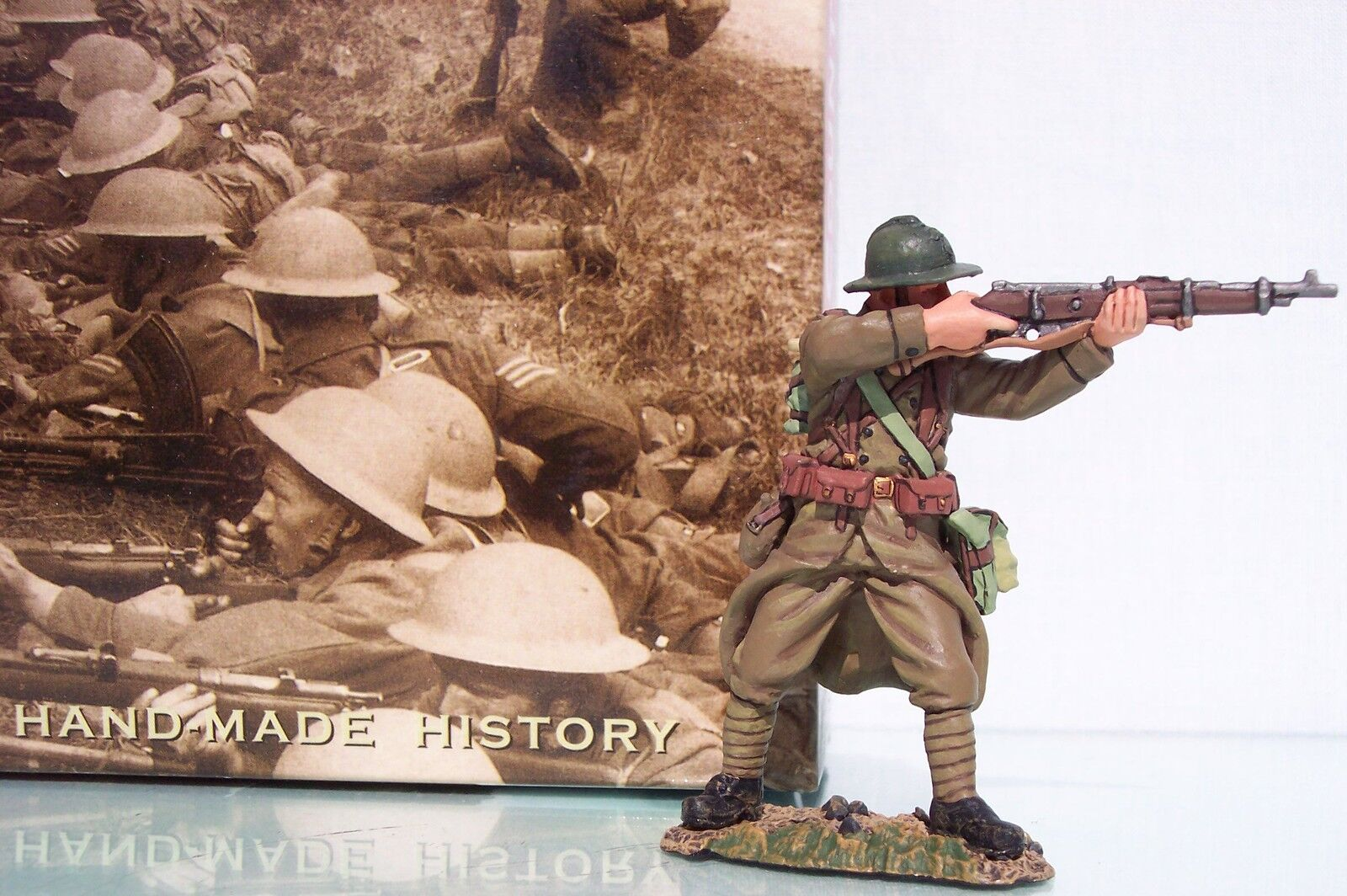 King & Land Fields of Kampf fob032 Französisch stehend brennen Schütze MIB
