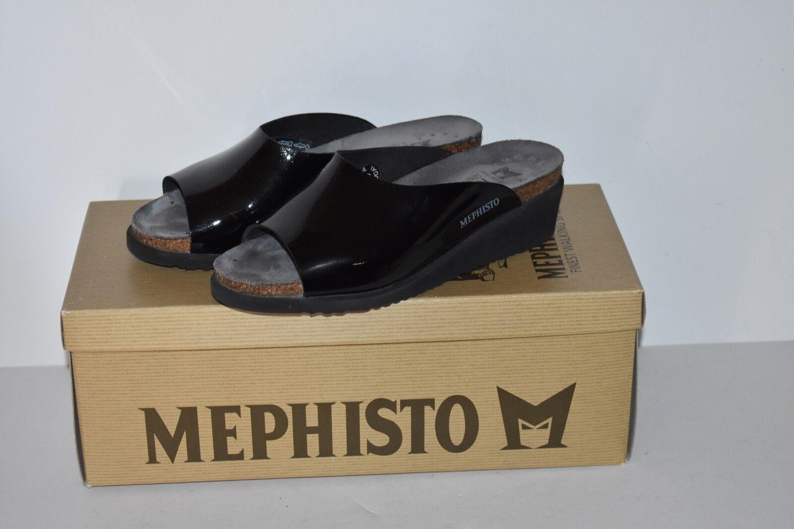 Mephisto Essy Black Patent Sandalbuck Biofit Biofit Biofit Nubuck Size US 5 d58c7a