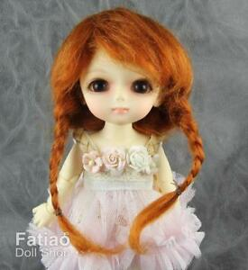 New-Dollfie-Lati-Yellow-Pukifee-5-6-034-Mohair-Doll-Wig-Carrot