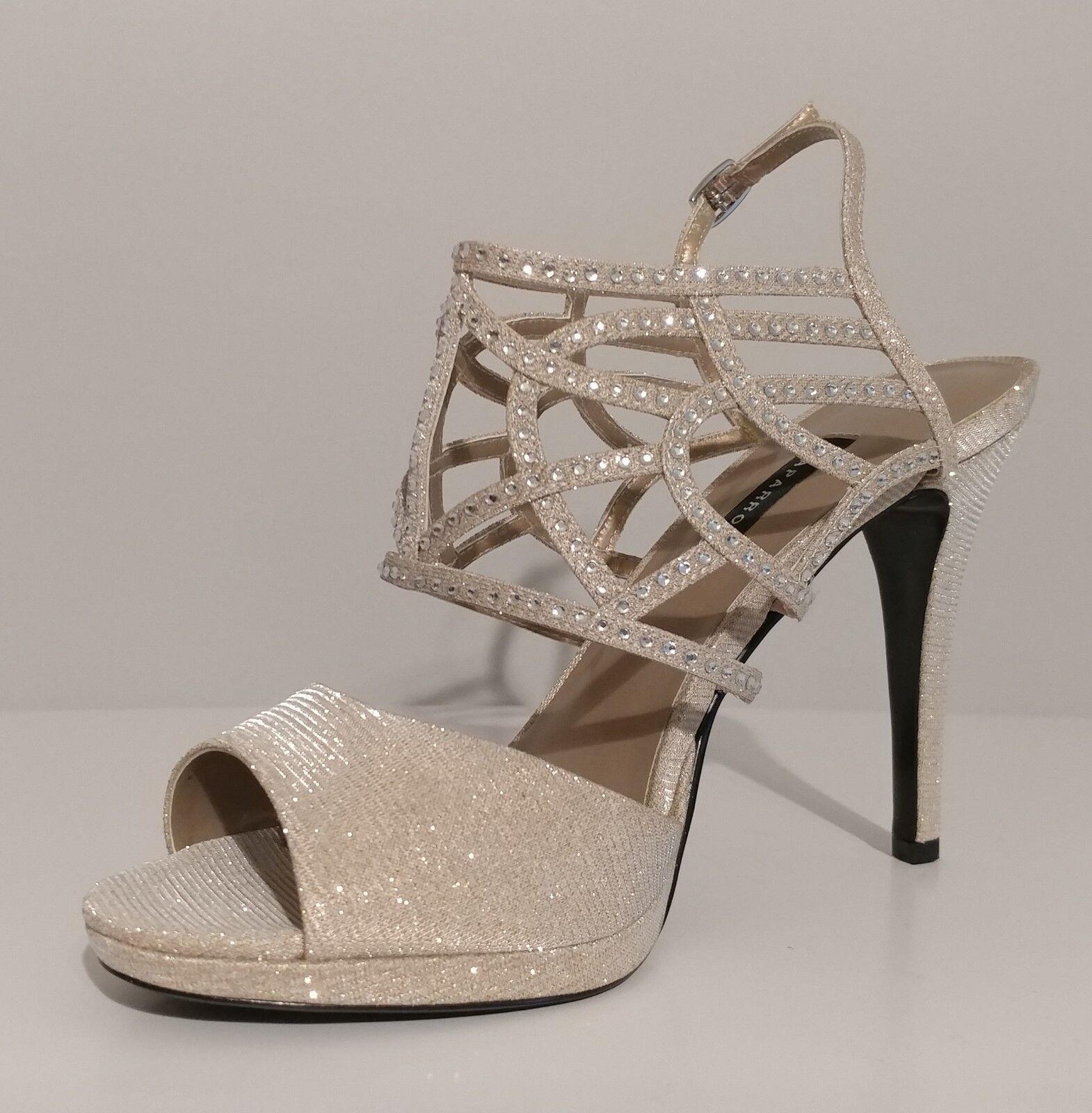 NEW   Caparros Gold Rinestone Sandals 5