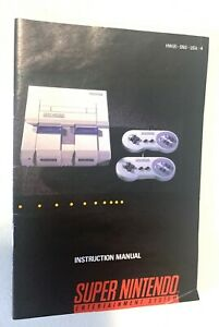 Super Nintendo Console System (SNES) Original Instruction Booklet/Manual Only