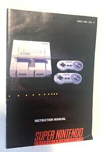 Super-Nintendo-Console-System-SNES-Original-Instruction-Booklet-Manual-Only