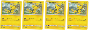 4x-Electabuzz-71-214-UNC-lost-Donner-NM-Pokemon-TCG
