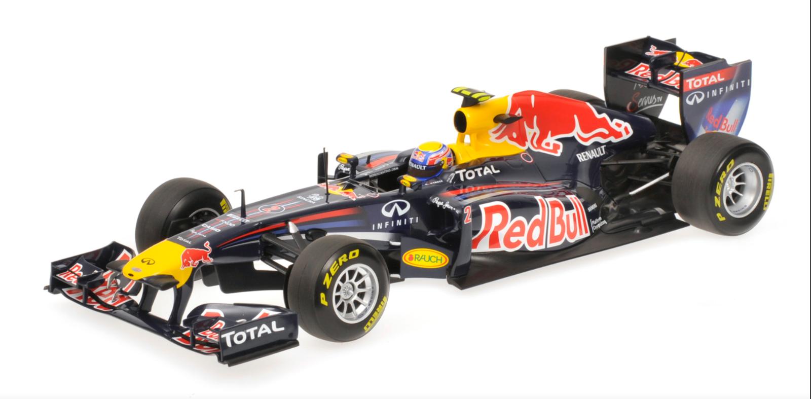 1 18 rosso Bull Renault RB7 Webber 2011 118 • MINICHAMPS 110110002