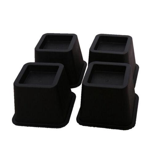 4Pc Bed Riser Furniture Lifter Bed Elevator Frame Lift Sofa Leg Home Storage