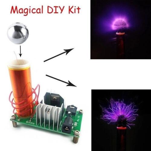 15W~Mini Tesla Coil Spulen-plasma Lautsprecher Speaker Elektronisch DIY Kit Satz