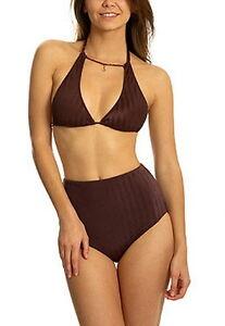 Etam Glossy swimwear bra top non//padded triangle bandeau wired bikini top only
