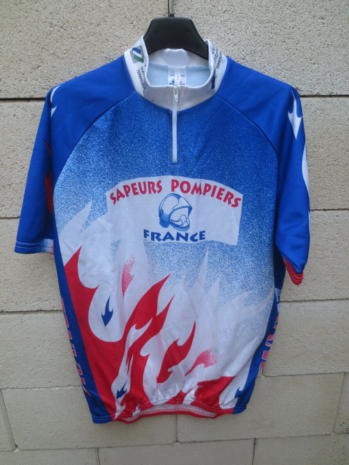Maillot cycliste EQUIPE DE FRANCE SAPEURS POMPIERS shirt jersey collection 5 XL