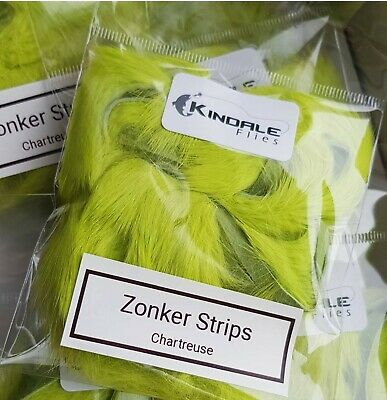 Barred White /& Chartreuse lapin Bandes 3 Mm