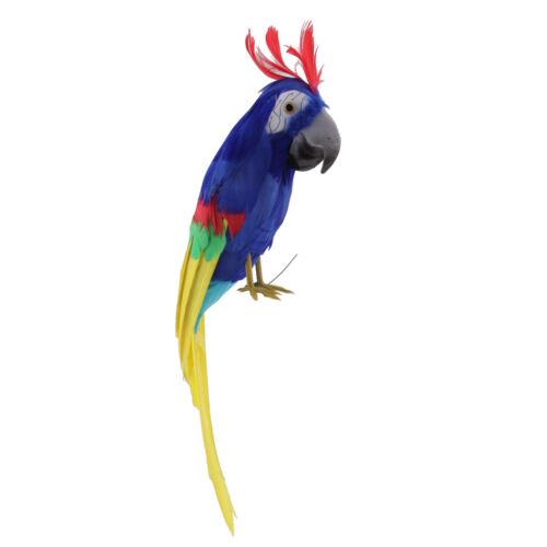 realistische Schaum Papagei künstliche gefiederten Vogel Tier Dekor