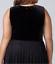 Lane-Bryant-Velvet-Pleated-Midi-Dress-Womens-Plus-20-22-Black-Lace-Skirt-2x-3x thumbnail 5
