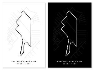 Adelaide Grand Prix Track Print