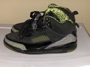 Image is loading Air-Jordan-Spizike-size-13-Lime-Green-Purple- 41a3c9832d