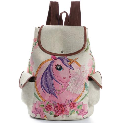 Girls Womens Print Casual Backpack School College Shoulder Bag Rucksack Fashion