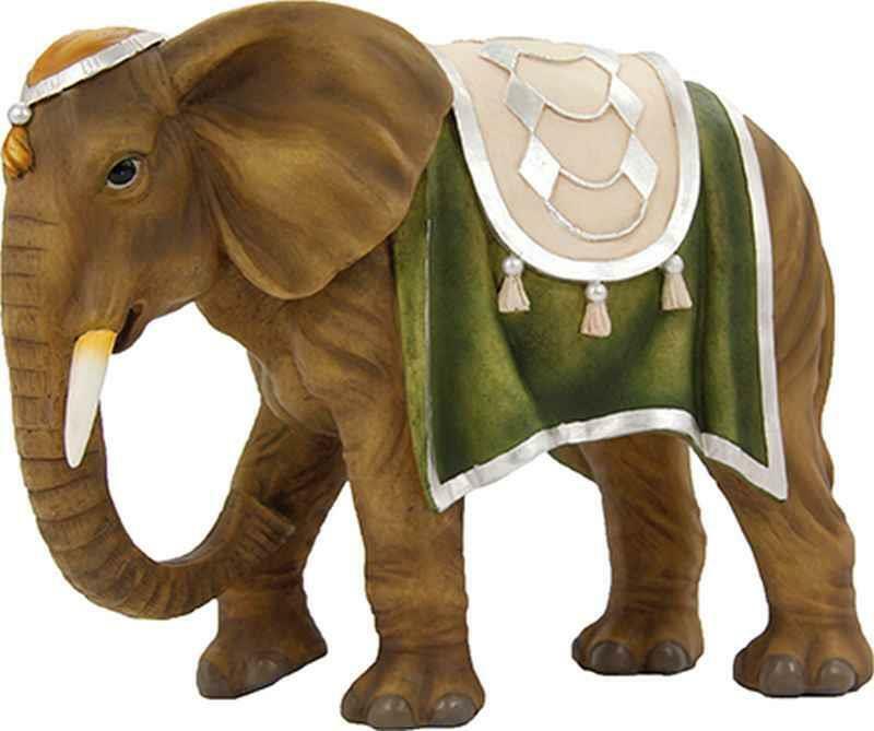 Crèches personnages animaux éléphant pour personnages de la taille environ 18-19 cm