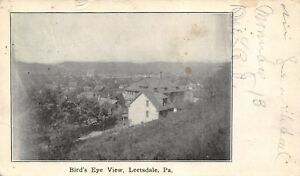 Leetsdale-Pennsylvania-Birdseye-From-Hilltop-Homes-Downtown-Businesses-1912-PC