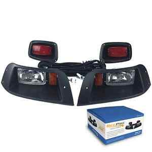 EZGO-TXT-ADJUSTABLE-GOLF-CART-HALOGEN-LIGHT-KIT-w-LED-TAIL-LIGHT-1996-2013