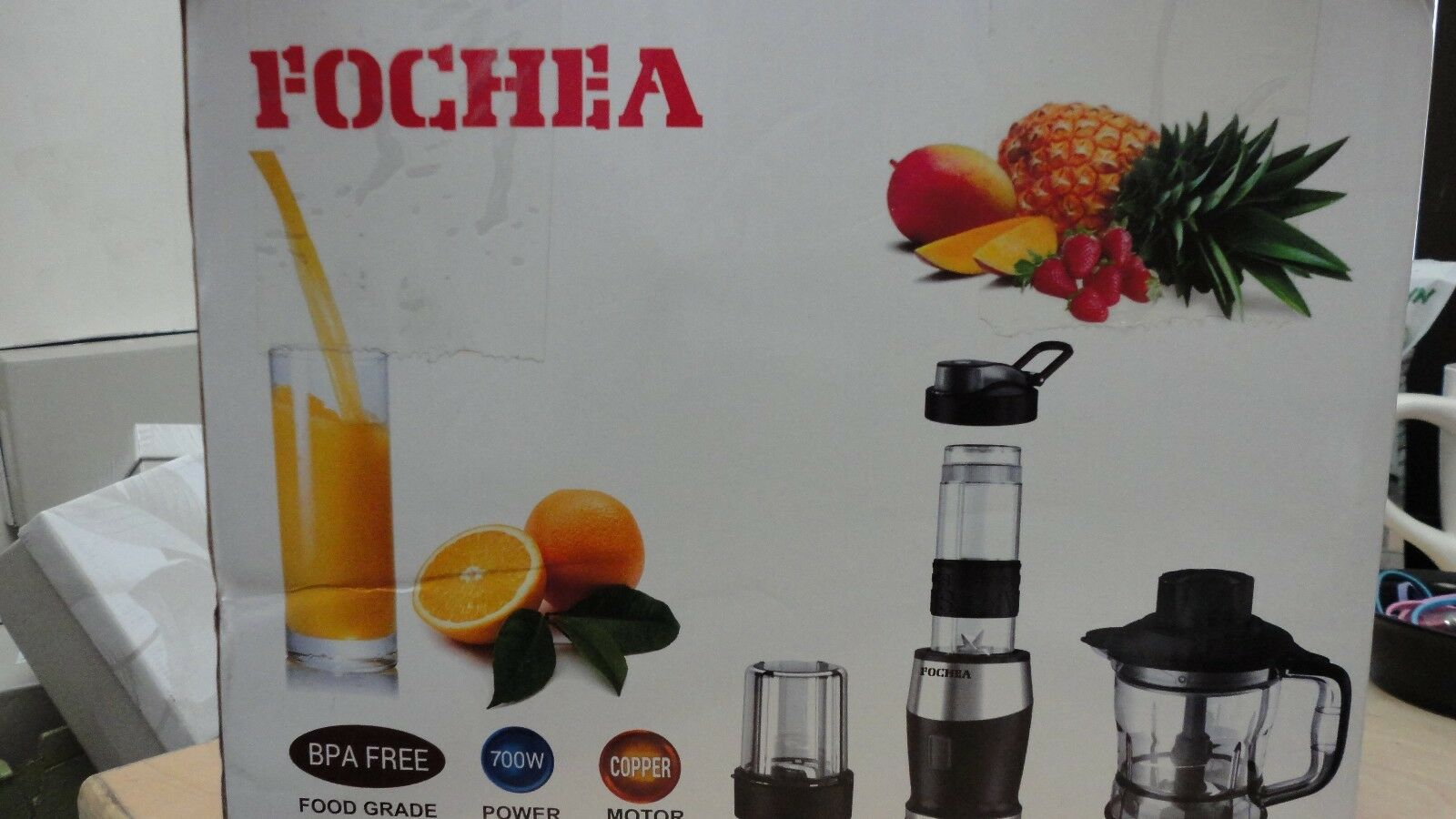 FOCHEA  CHOPPER BLENDER MIXER GRINDER USED GOOD CONDITION MISSING LID