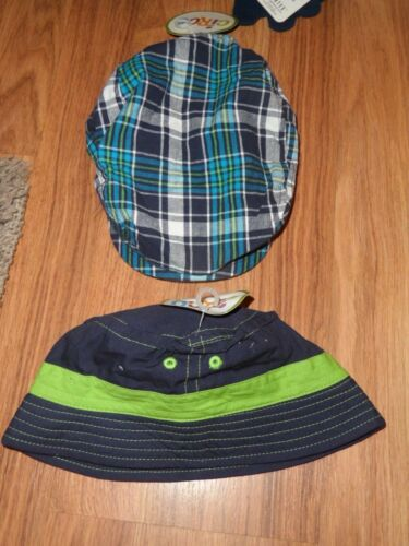lot of 2 boys  newsboy  /& sun cap hat ~~  infant 12-18 months  bucket