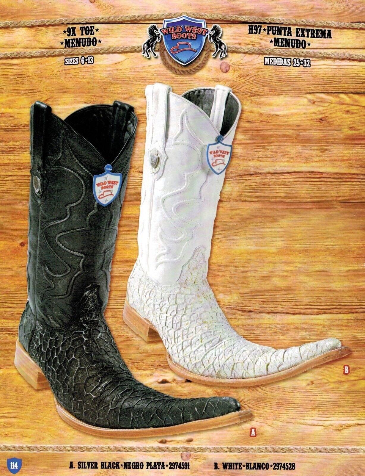 Wild West Men's 9X-Toe Menudo Cowboy Western Boots Different colors