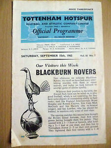 1962 League Division One TOTTENHAH HOTSPUR v BLACKBURN ROVERS 15th Sept - ilford, Essex, United Kingdom - 1962 League Division One TOTTENHAH HOTSPUR v BLACKBURN ROVERS 15th Sept - ilford, Essex, United Kingdom