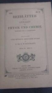 Rivista Beiblatter N° 6 Zu Den Annalen Der Physik Und Chemie 1896 Lipsia Verlag