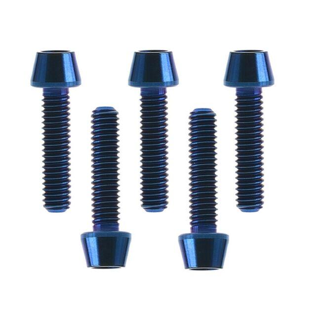 2x Titanium  Button Socket Bolt Torx M5 x 10mm x 0.8mm Natural RacePro