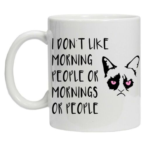 I Don/'t Like Morning People or Mornings Funny Tea Coffee 10oz Ceramic Mug Cup