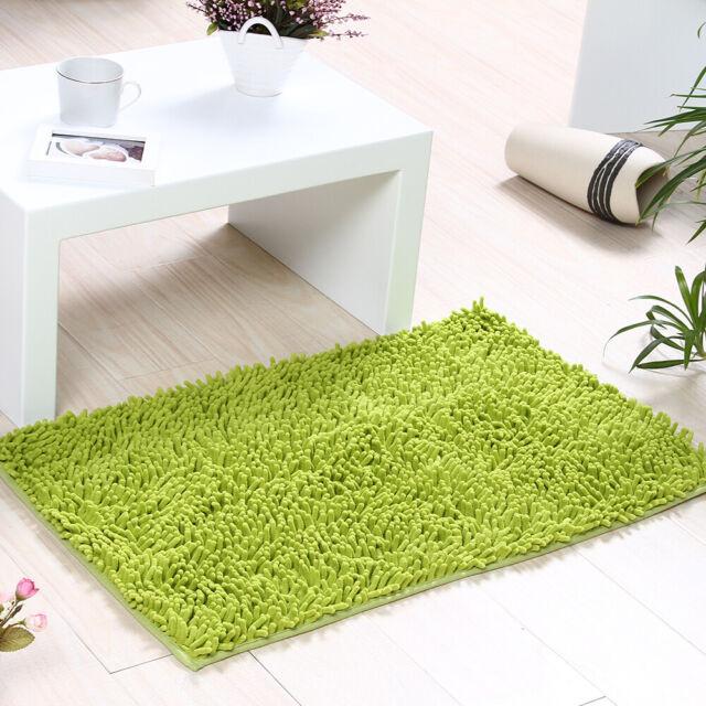 Bathroom Shower Bath Mat Rug Carpet NonSlip Cushion 10 Colors,
