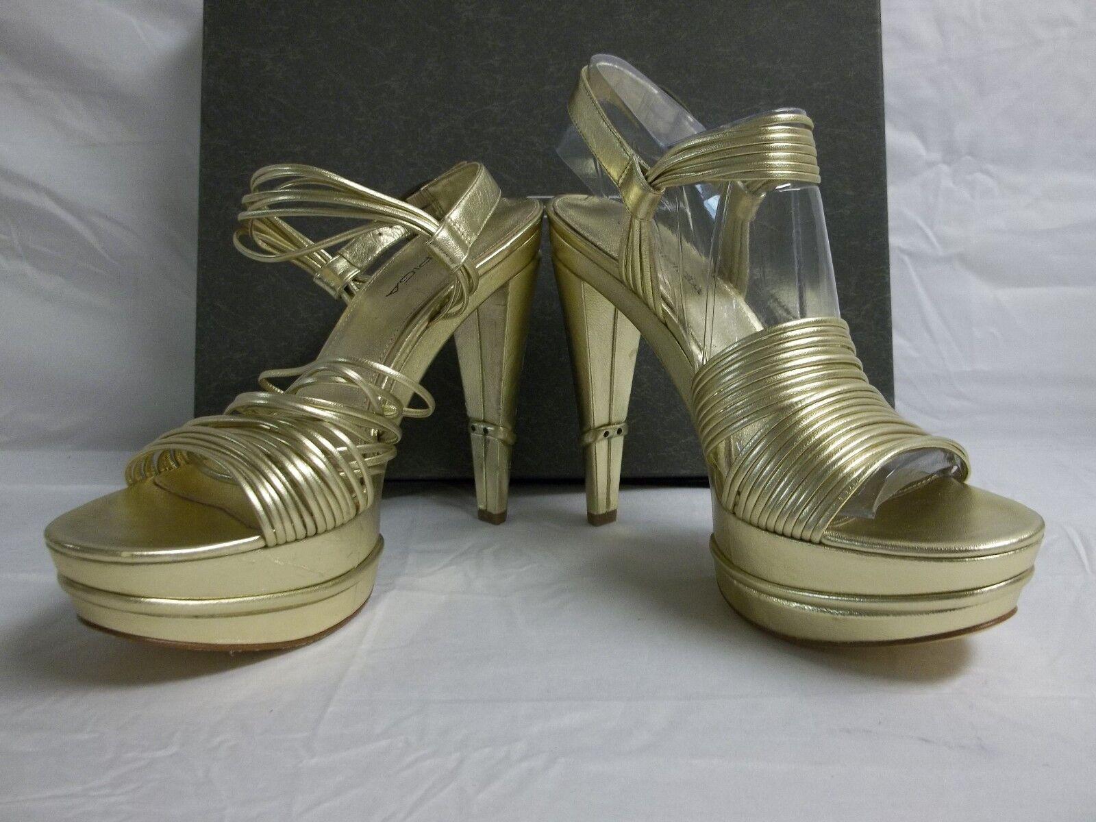 Via Spiga Größe 7.5 Leder M Aida Gold Leder 7.5 Open Toe Heels New Damenschuhe Schuhes SN9202B 27e2a4