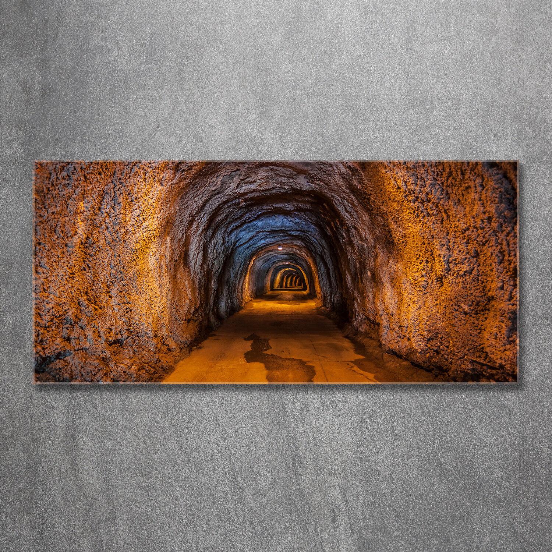 Glas-Bild Wandbilder Glas-Druck 120x60 Sehenswürdigkeiten Unterirdischer Tunnel